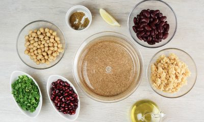 Bean Salad with Pomegranate Seeds